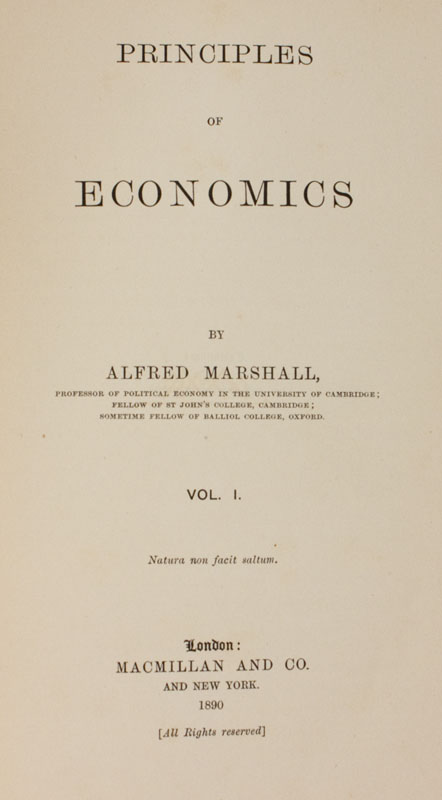 alfred marshalls principles of economics essay Culture & political economy: adam smith & alfred marshall  culture & political economy: adam smith & alfred marshall  (alfred marshall, principles of.