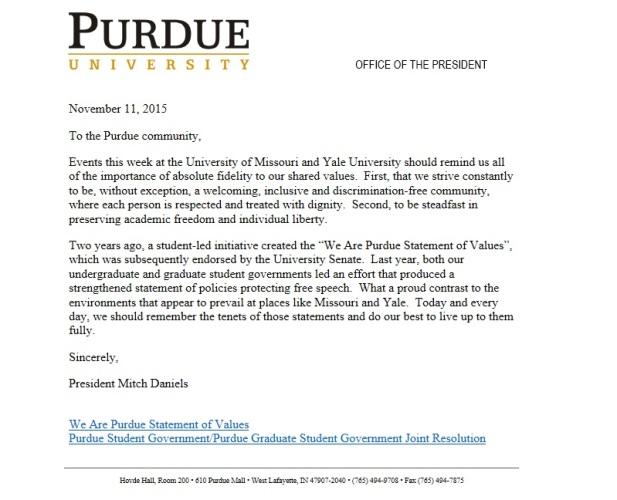 Purdue Letter